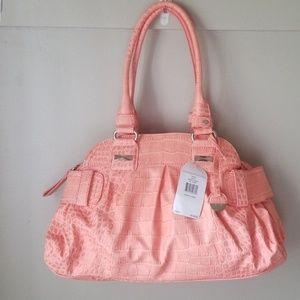 NWT Jessica Simpson satchel purse large peach